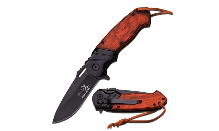 Elk Ridge ER-A003BW Spring Assisted Knife, 4.75 Closed New