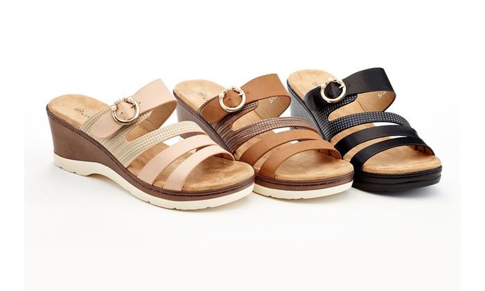 ead5ed8c7b5 Lady Godiva Yvette Women s Comfort Wedge Sandals (Sizes 5.5   8 ...