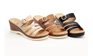 Lady Godiva Yvette Women's Comfort Wedge Sandals (Sizes 7.5, 8, 10)