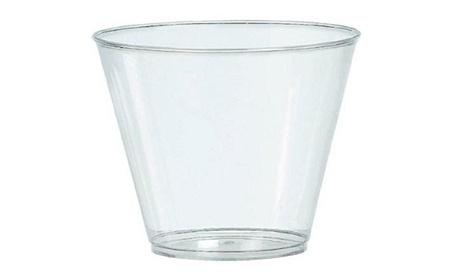 Amscan 350366.86 9 oz. Large Clear Plastic Cups - Pack of 648 e414b0dd-d69f-449e-9797-a2e2a25caec7