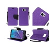 Insten Purple Blk Leather Fabric Case /stand For Samsung Galaxy Note 5
