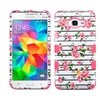 Insten Tuff Roses Dual Silicone Case For Galaxy Grand Prime Pink White