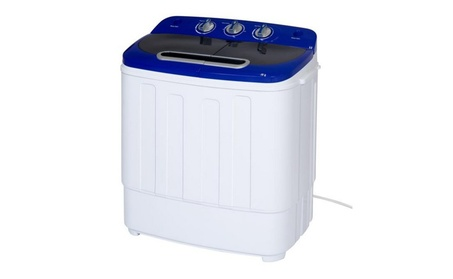 Portable Compact Mini Twin Tub Washing Machine and Spin Cycle w/ Hose photo