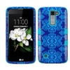 Insten Tuff Damask Hard Dual Layer Silicone Cover Case For Lg K7 Blue