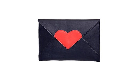 Heart-Shaped Handbags Women Clutches Party Purse Shoulder Messenger Bags (Goods Women's Fashion Accessories Cross-Body) photo