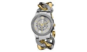 Akribos XXIV Women's Quartz Multifunction Twist Chain Watch AKGP558