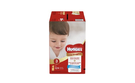 Huggies Little Snugglers Baby Diapers, Size 3, 124 Count 1bca03a1-5f3f-4254-a1ee-63f47ca8a32d