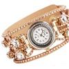 Crystal Rhinestone Genuine Leather Quartz Wrist Watch for Women