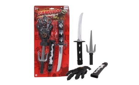 4pc Plastic Samurai Swords Playset 2460474d-88ea-40c7-b8e9-3b7cbd639602