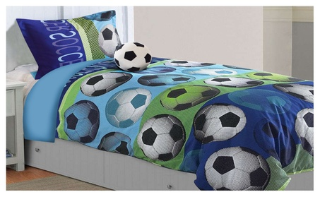 All American Collection New Childrens Soccer Bedding Set 39cecd28-5233-46e1-807d-5c85c8e54127
