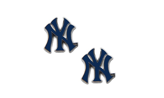 New York Yankees Post Stud Logo Earring Set MLB Charm Gift