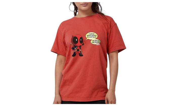 64e86cf0 Caeike CafePress Deadpool Love Tacos Comfort Colors Adult Tee | Groupon