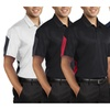 Mens Two Tone Moisture Wicking Snag Resistant Polo Shirt