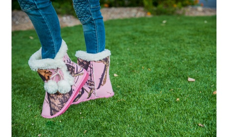 Dawgs Kids & Toddlers Mossy Oak Microfiber Side-Tie Boots d458ce5e-924d-4dfd-b2fa-e4bfebc0caab