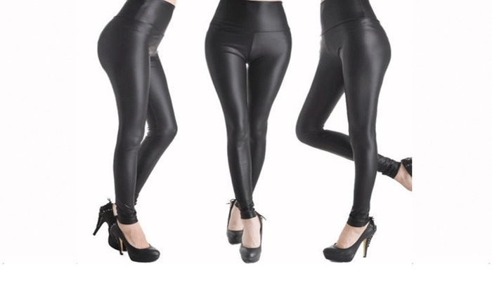 f382569261 Legging Faux Leather High Waist Stretch Slim Skinny Tight Pencil Pants  Women NEW