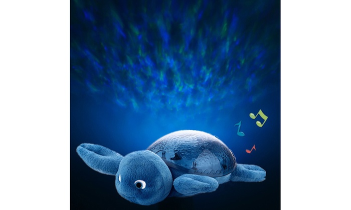 BH Baby Underwater Wave Projector Plush Turtle Nightlight - Blue