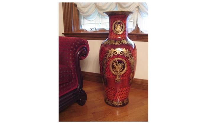 Designer Porcelain Large Floor Vase 36 Inch Groupon