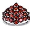 4 1/3 CT TW Garnet Rhodium-Plated Sterling Silver Fashion Ring