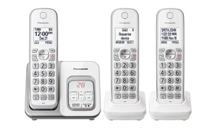Panasonic DECT 6.0 Expandable Cordless Phone Call Block - 3 Handsets