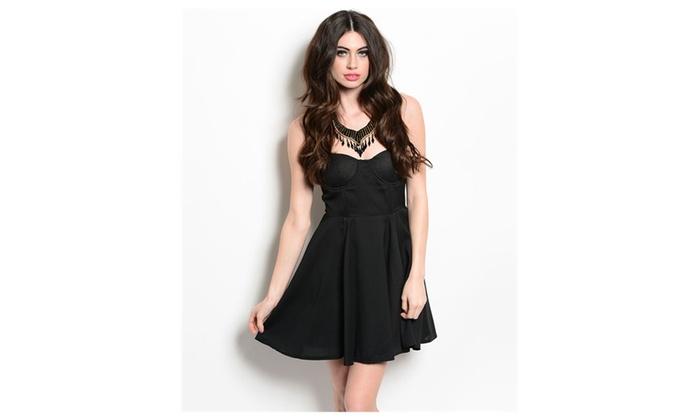 Strapless Sweetheart Neckline A-Line Black Mini Dress
