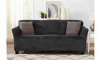 Velvet Plush Form-Fit Stretch Slipcover for Chairs, Recliners, Loveseats, Sofas, or Couches