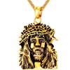Head of Jesus Cross Stainless Steel Trendy Pendant Necklace