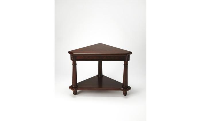 Butler antwerp plantation cherry corner table groupon butler antwerp plantation cherry corner table butler antwerp plantation cherry corner table watchthetrailerfo