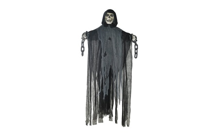 Prextex 5 Ft. Animated Hanging Grim Reaper Skull with Shackles Chains a8e167f0-4f4b-468e-8f06-d81adac47ace