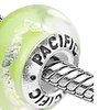 Sterling Silver 'Allure' Murano-style Glass Bead