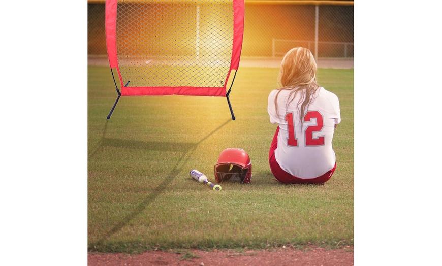 7 ft x 4 ft Baseball Softball Practice Net Batting Training Net W// Carrying Case