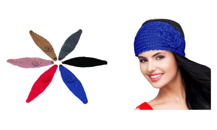 Ladies Floral Ear Warmers 5 Colors Available