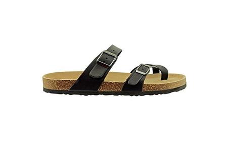 652f8685a4867 Women's Vegan Leather Adjustable Strap Flats Sandals Bork-30