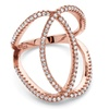 .50 TCW CZ Loop Ring in Rose-Plated Silver