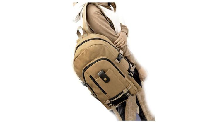 Shoulder Sstrap Zipper Solid Casual Bag Male Backpack School Bag