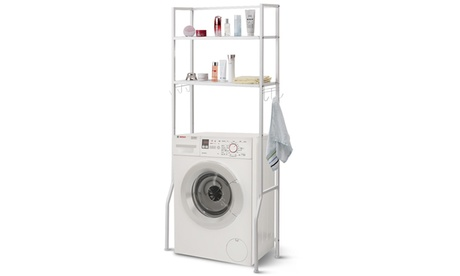 2 Tire Space Saver Storage Rack Over Washing Machine Laundry Toilet
