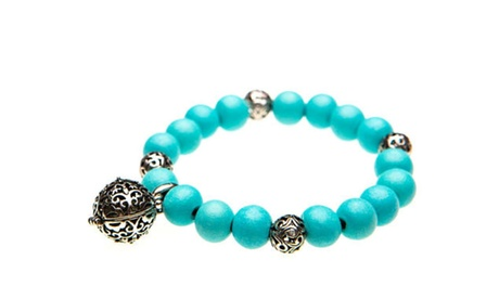 Teal Beaded Aromatherapy Diffuser Bracelet With Uplift Essential Oil bbca405d-6df4-4af3-a61c-87e4ede4485c