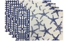Set of 4 100% Cotton Nautical Design Tapestry Placemats