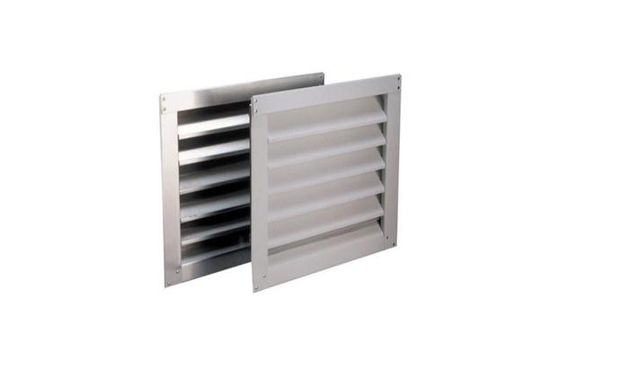 Air Vent 81104 Aluminum Wall Louver, 12 x 12 Mil, Silver
