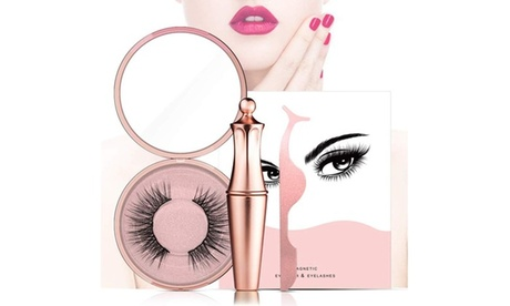 Magnetic Eyeliner Kit with Magnetic Eyelashes and Liquid Eyeliner, AD811-5