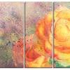 Yellow Rose Watercolor - Floral Metal Wall Art