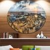 Rocky African Seashore Panorama' Oversized Beach Metal Circle Wall Art