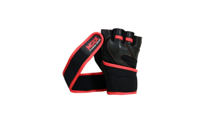 Fitness Exercise Weight Lifting Gym Training Gloves Long Wrist Strap