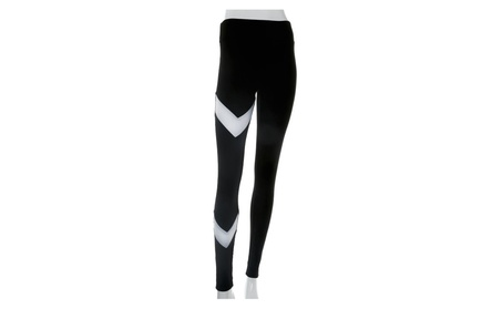 Women Geometry Black White Sports Gym Yoga Leggings Pants 5b706c8e-d580-4b60-9586-7d69ca454281