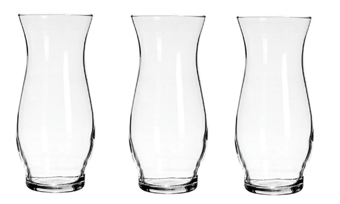 Glass Hurricane Stem Vases 65 Inch Wedding Centerpiece Case Of 12