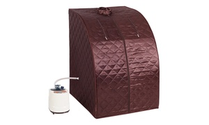Costway Portable 2L Steam Sauna Spa Full Body Slimming Detox Therapy