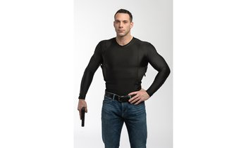 Concealment Clothes Mens Long Sleeve Concealed Carry Holster Undershirt