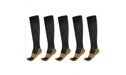 Copper Sports Compression Socks 20-30mmHg Graduated Soft Support Fit Men Women