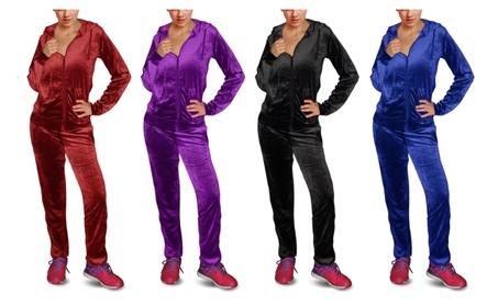 Women's Super-Soft 2 Piece Velour Tracksuit 8ce26cea-a77a-4a32-a960-3ee1a30a8463