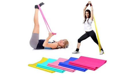 Yoga Pilates Stretch Resistance Band Exercise Fitness Band (2 units) 5737e0ee-387d-4897-b65a-e10f1eb02af2