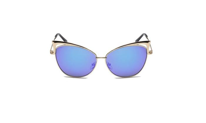 Gold Retro Cat Eye Sunglasses